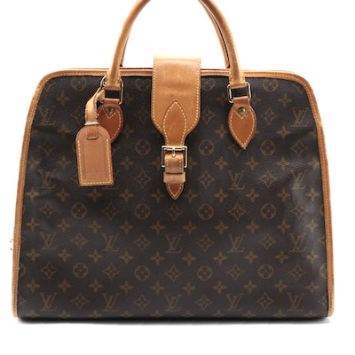 Louis Vuitton Rivoli Briefcase in Monogram Canvas and Vachetta Leather
