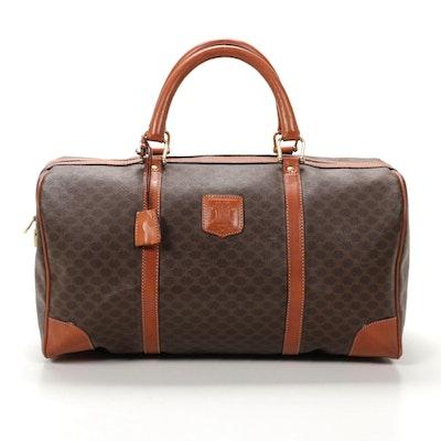 Celine Macadam Canvas and Leather Boston Bag