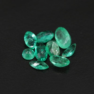 Loose 2.01 CTW Mixed Cut Emeralds