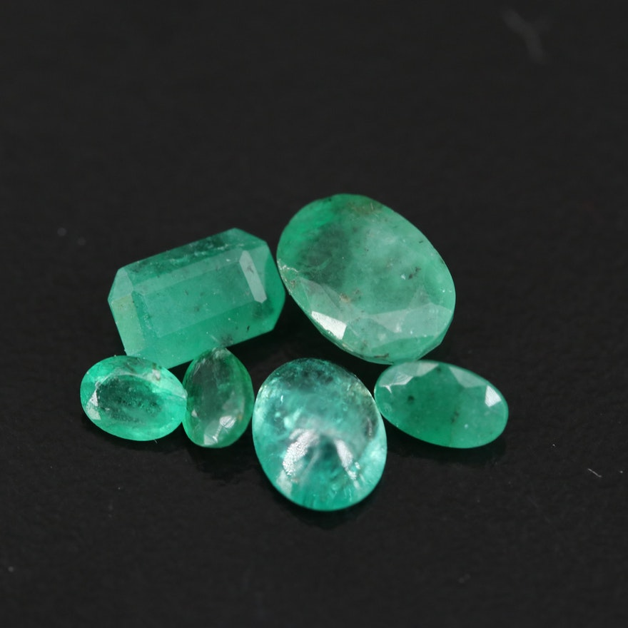 Loose 2.58 CTW Mixed Cut Emeralds