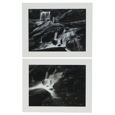 William D. Wade Silver Gelatin and Inkjet Print of Waterfalls, Late 20th Century