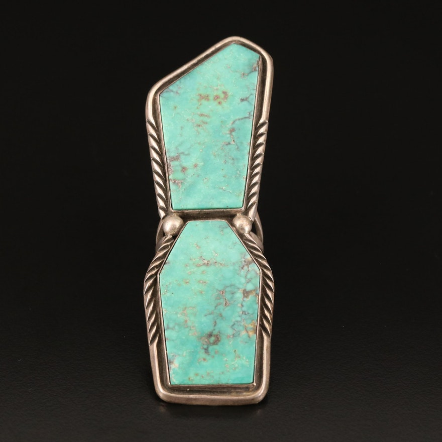 Ray Delgarito Navajo Diné Sterling Turquoise Pointer Ring