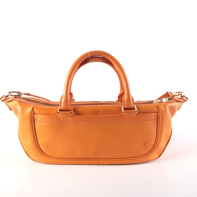 Louis Vuitton Dhanura MM Two-Way Satchel in Mandarin Epi Leather
