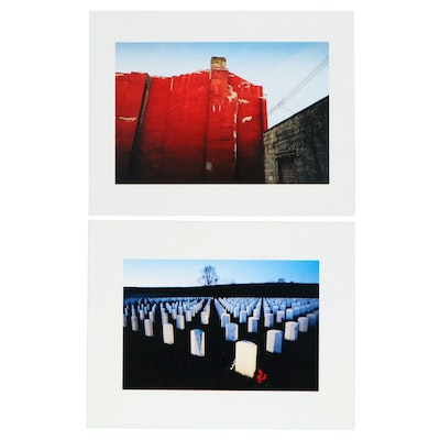 William D. Wade Inkjet Print of Pittsburgh Graveyard and Urban Landscape