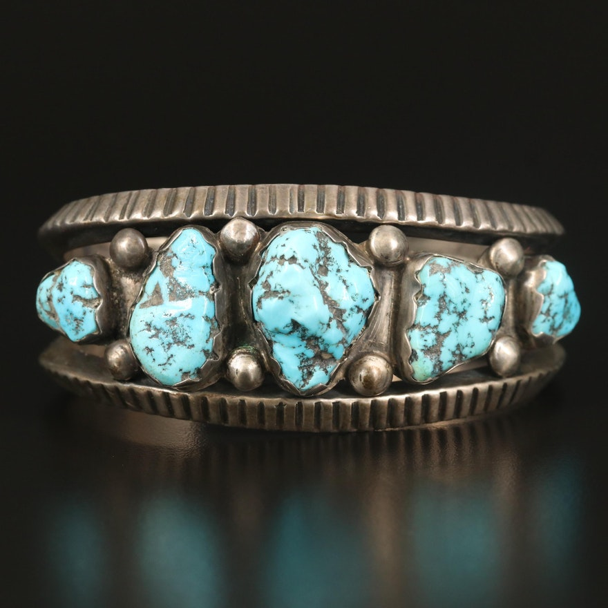 Southwestern Sterling Turquoise Cuff