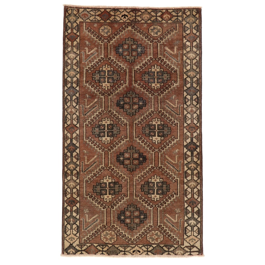 5'5 x 9'9 Hand-Knotted Northwest Persian Area Rug, 1960s