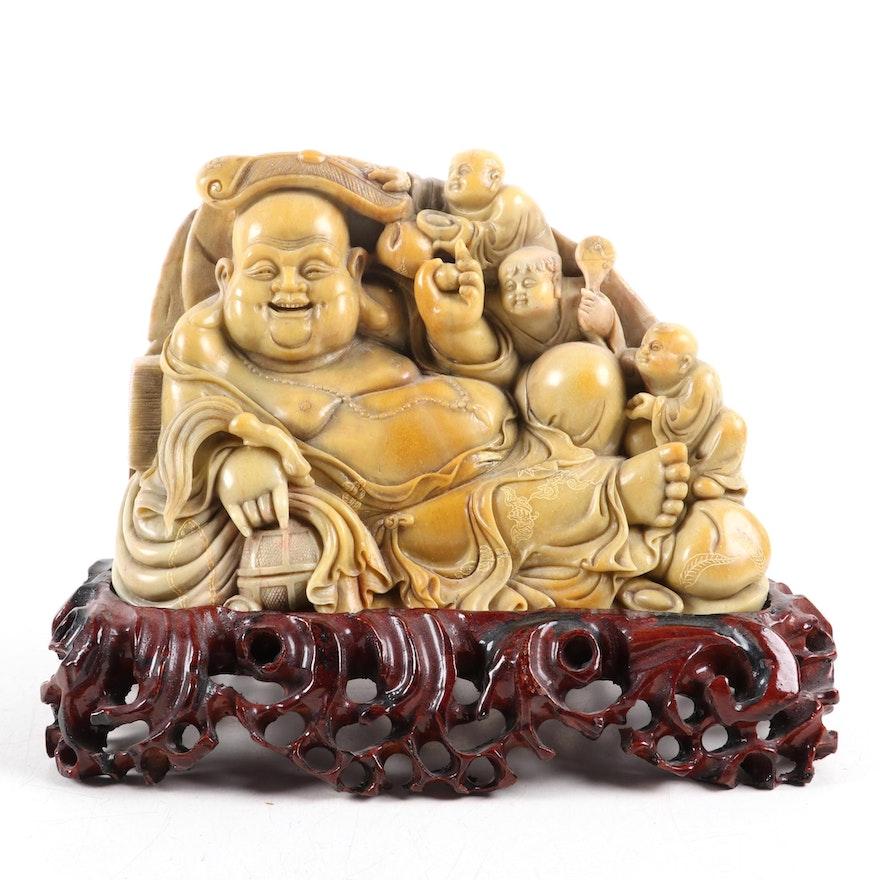 Chinese Carved Soapstone Budai
