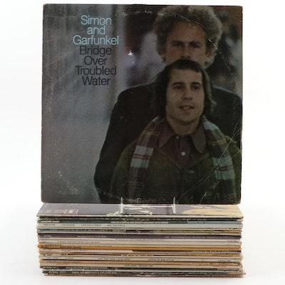 """Simon & Garfunkle,"" ""Mamas & Papas"" and Other Vinyl LP Records, 1960s-1970s"