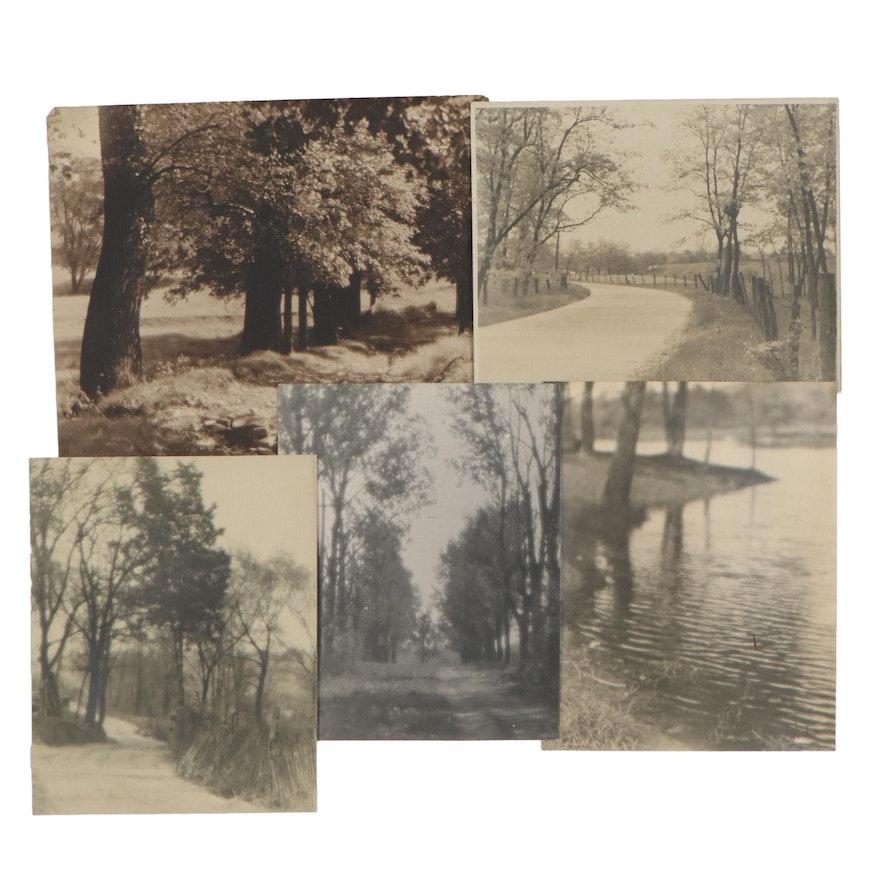 Charles A. Weddigen Silver Gelatin Landscape Photographs