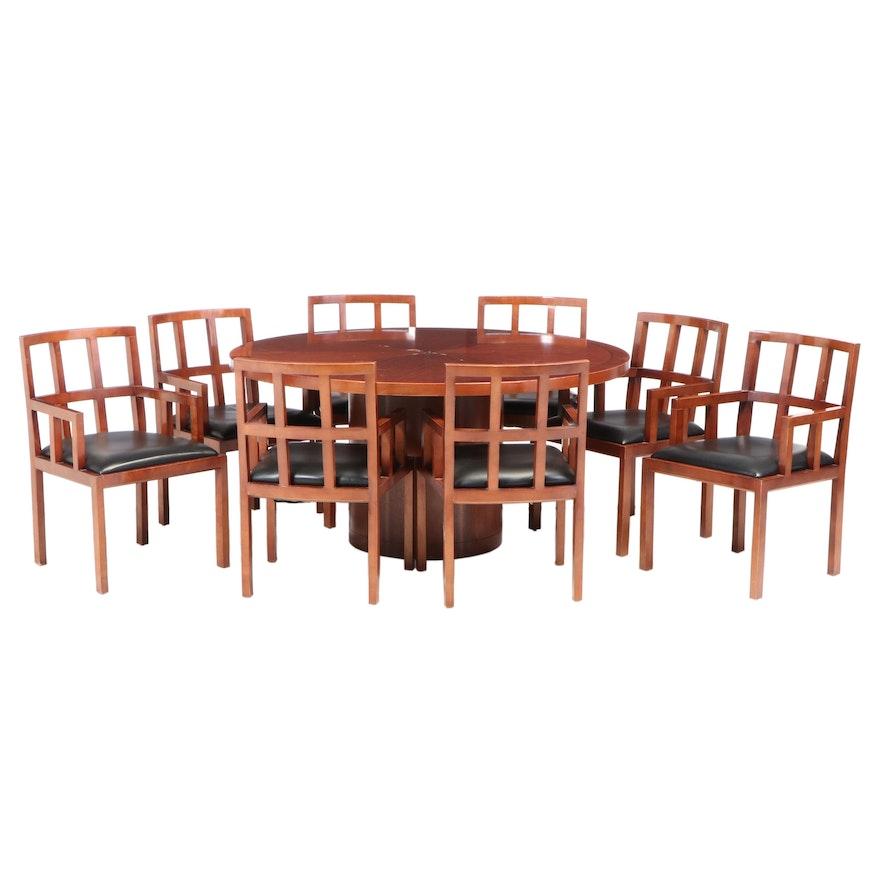 Nine-Piece Bernhardt Hardwood Dining Set