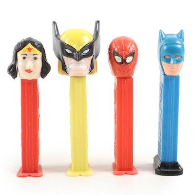 "PEZ ""Wonder Woman"", ""Batman"", ""Spider-Man"" and Wolverine Candy Dispensers"