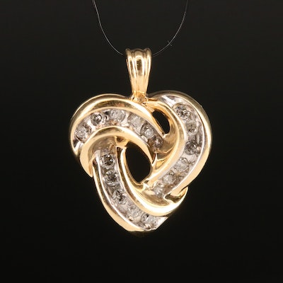 10K Diamond Knot Pendant