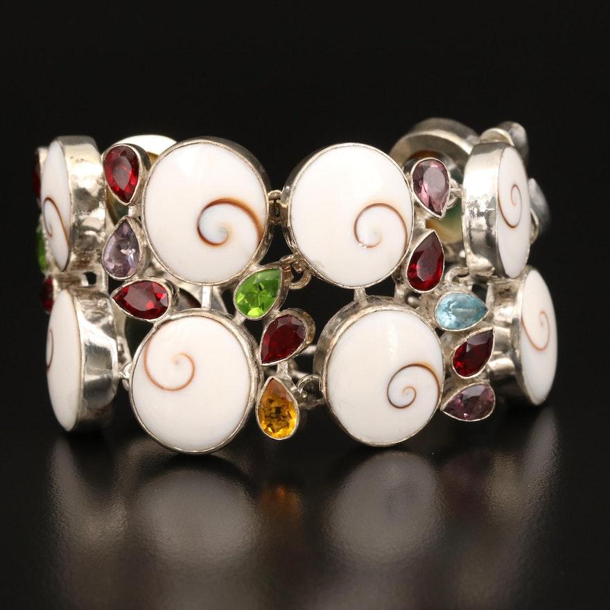Shell and Glass Bracelet