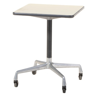 """Charles and Ray Eames for Herman Miller """"Aluminum Group"""" Rolling Side Table"""