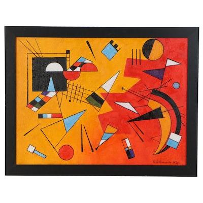 "Nataliya Shlomenko Abstract Oil Painting ""Rhythm,"" 2020"