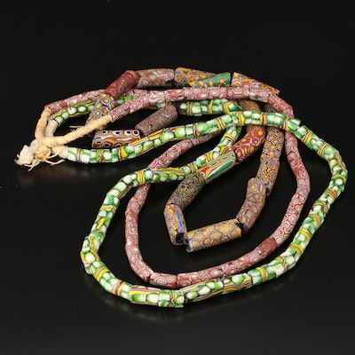 Venetian Millefiori Trade Bead Necklaces