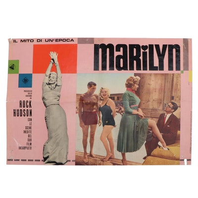 "Italian ""Marilyn"" Movie Poster, Mid-20th Century"