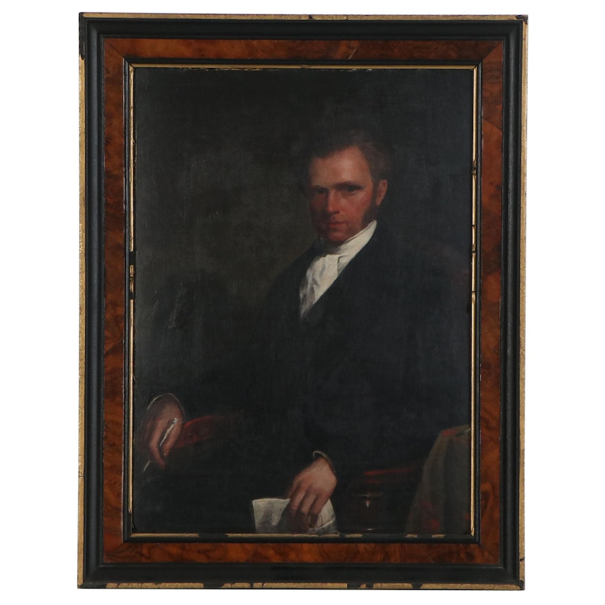 Oil Portrait of Seated Figure, Late 19th Century