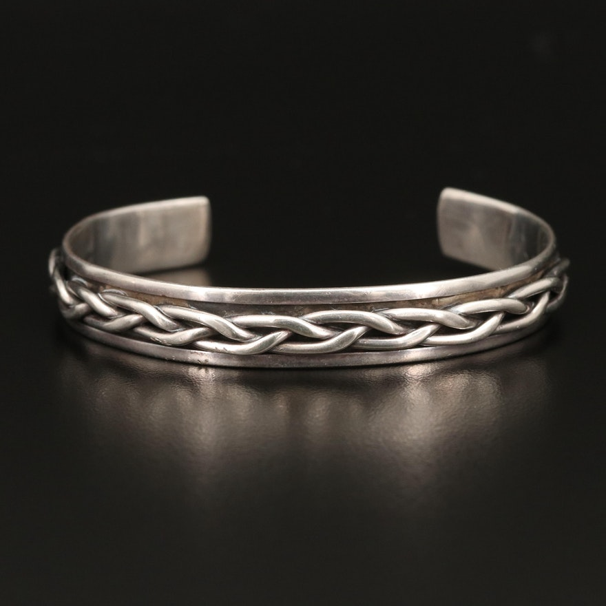 Mexican Sterling Braided Cuff