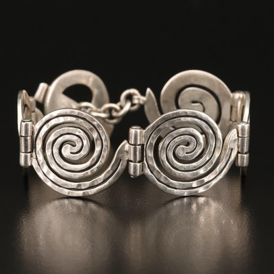 Mexican Sterling Silver Spiral Bracelet