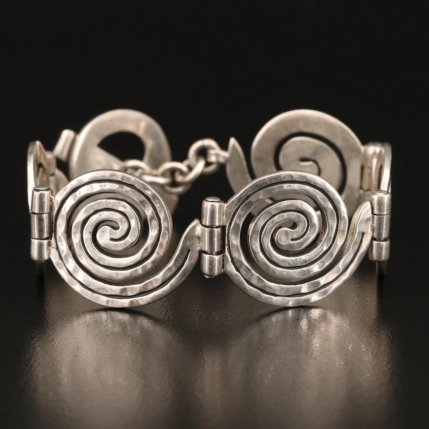 Mexican Sterling Silver Spiral Bracelet
