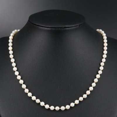 Pearl Individually Knotted Necklace
