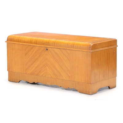 "Lane ""Aroma-Tight"" Art Deco Satinwood and Cedar-Lined Lift-Lid Chest, circa 1930"