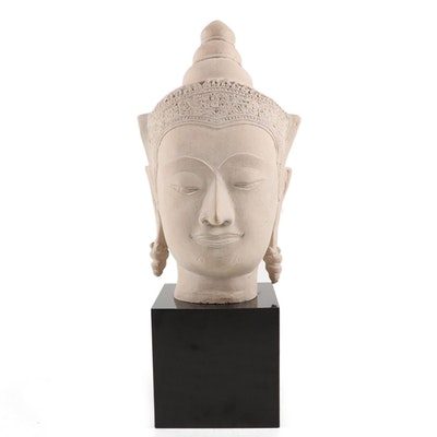 Austin Productions Thai Style Composite Stone Buddha Head