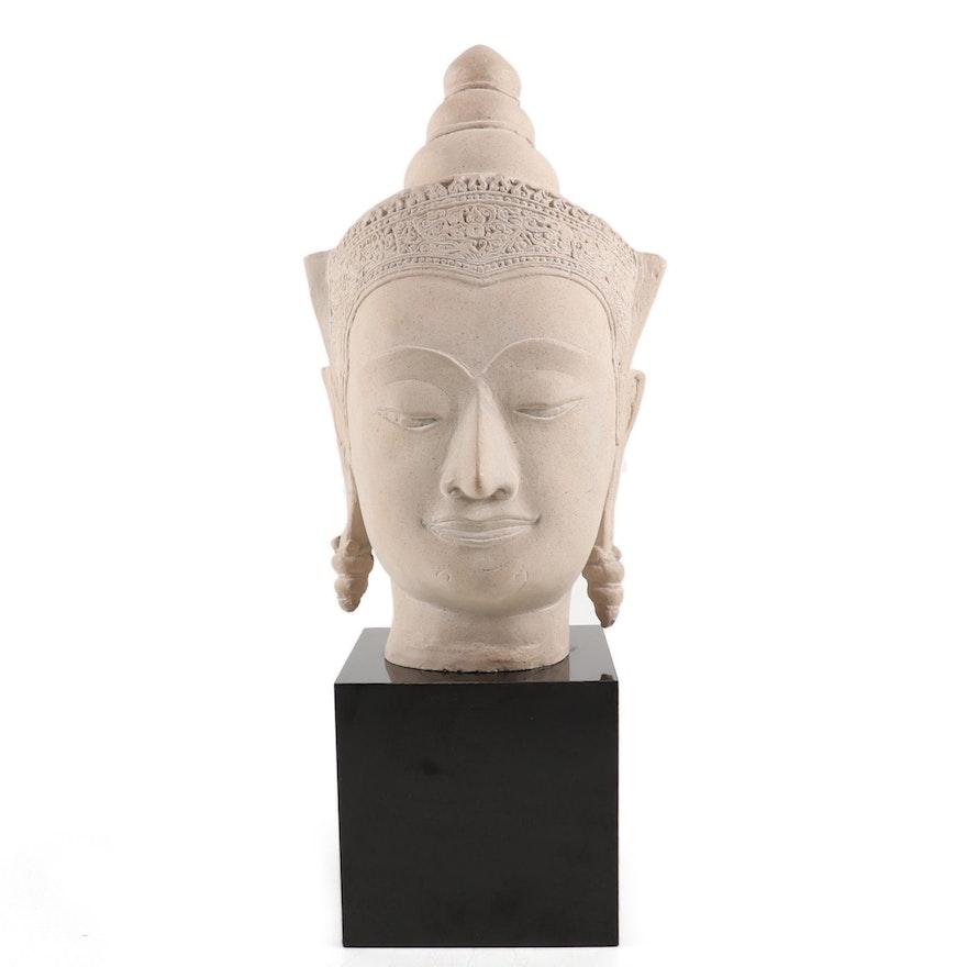 Austin Productions Thai Style Composite Stone Buddha Head
