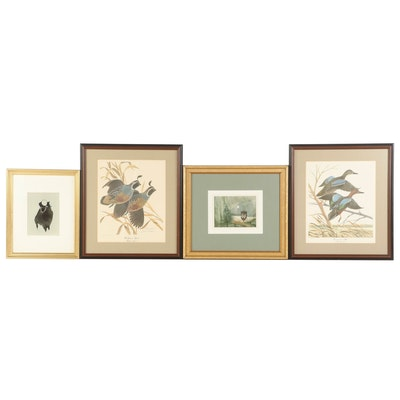 Roger Haas Watercolor Paintings and John Ruthven Offset Lithographs