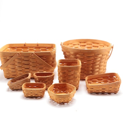 Longaberger Woven Wicker Baskets, 1999-2003