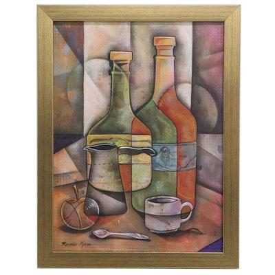 Ricardo Maya Still Life Acrylic Painting