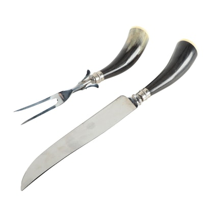 Trustwell Brothers Horn Handle Carving Set