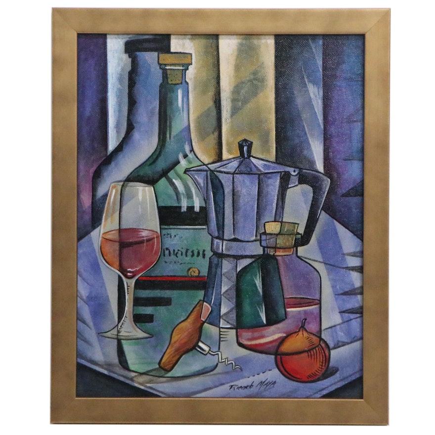 Ricardo Maya Abstract Still Life Acrylic Painting