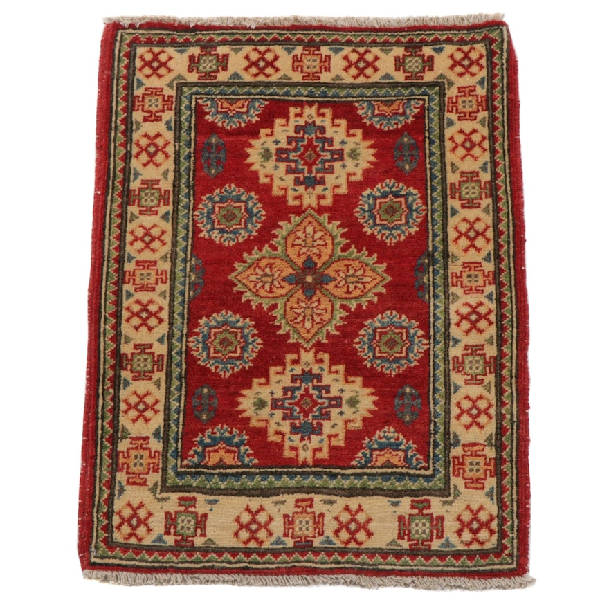 2'2 x 3' Hand-Knotted Afghan Persian Tabriz Accent Rug, 2010s
