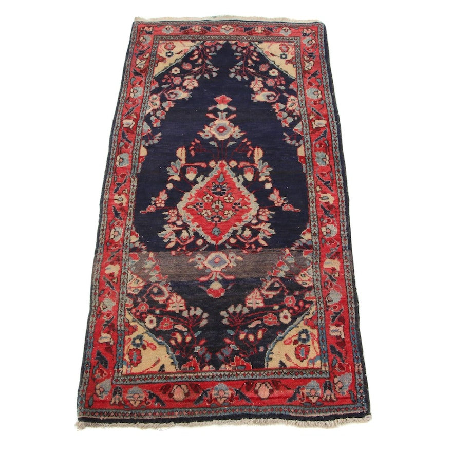 2'2 x 4'5 Hand-Knotted Persian Tabriz Wool Accent Rug, circa 1960s