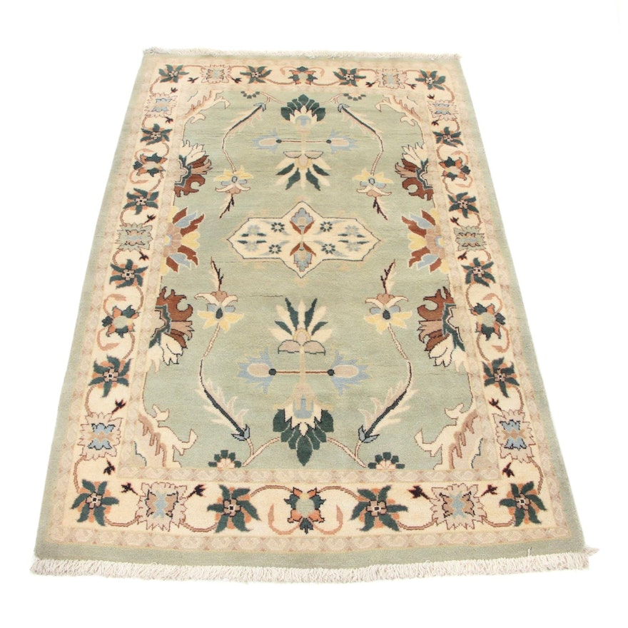 4'3 x 7' Hand-Knotted Persian Tabriz Area Rug, 1990s