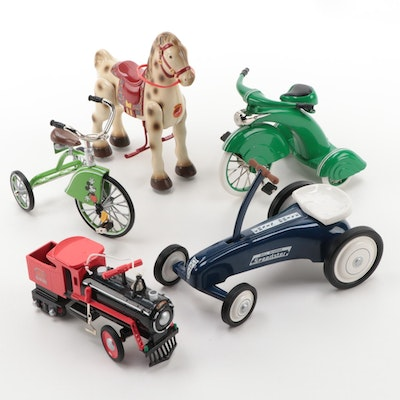 "Hallmark ""Kiddie Car Classics"" Including ""Mickey Mouse Velocipede"", Late 20th C."