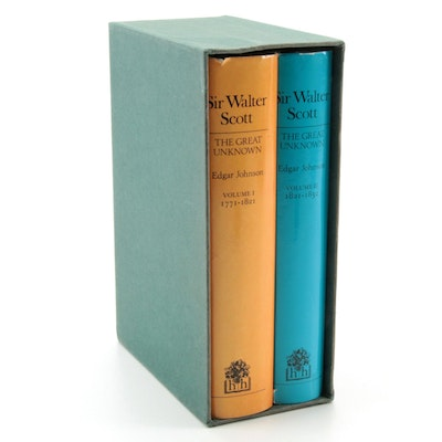 "First UK Edition ""Sir Walter Scott: The Great Unknown"" Two-Volume Set"