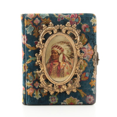 Velvet Covered Photo Album, Late 19th Century