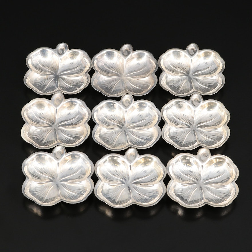 Lenox Silver Inc. Sterling Silver Four Leaf Clover Nut Dishes