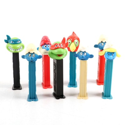 "PEZ ""Teenage Mutant Ninja Turtles"", ""Smurfs"" and Other Candy Dispensers"