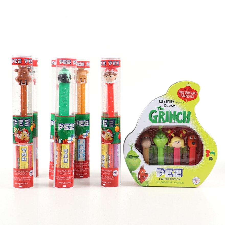 """PEZ """"The Grinch"""" Limited Edition and Other Christmas Candy Dispensers"""