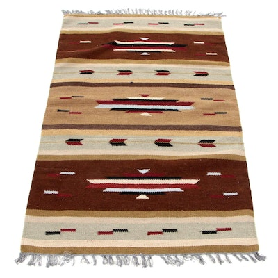 3' x 5'1 Handwoven Indo-Turkish Kilim Wool Area Rug, 2000s
