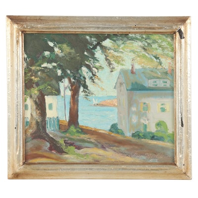 Stanley Mathews California Impressionist Style Landscape Oil Painting