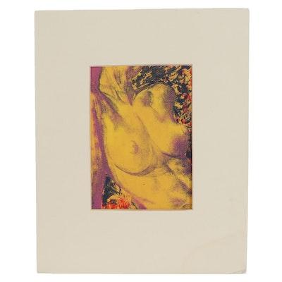 Female Nude Serigraph, Late 20th Century