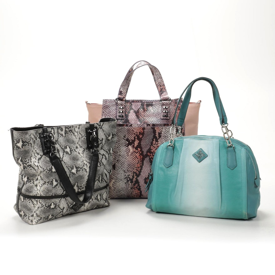 Simply Vera Faux Leather Tote Bags