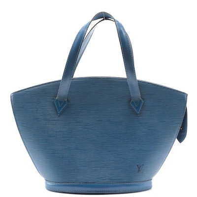 Louis Vuitton St. Jacques PM Bag in Toledo Blue Epi and Smooth Leather