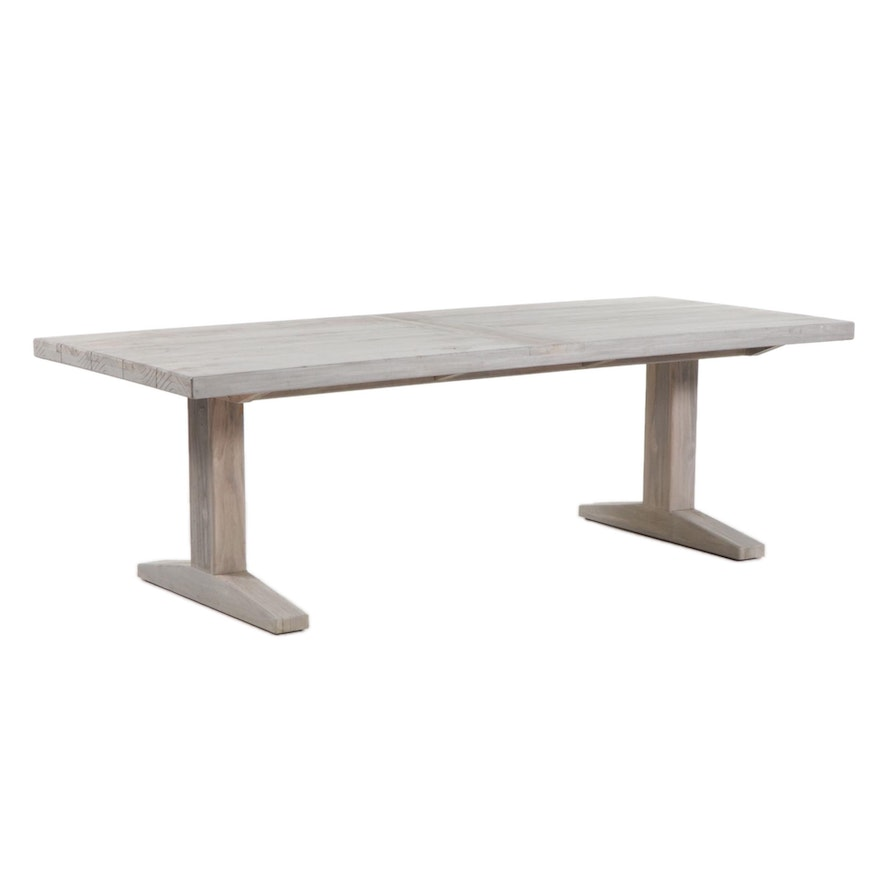 Distressed Outdoor Wood Dining Table
