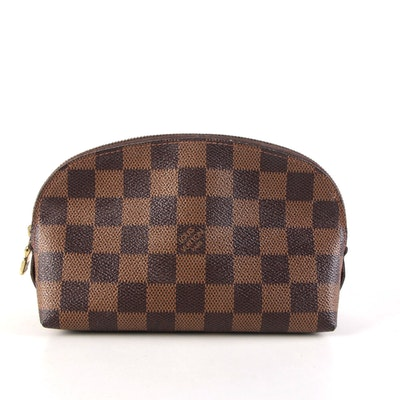 Louis Vuitton Cosmetic Pouch in Damier Ebene Coated Canvas
